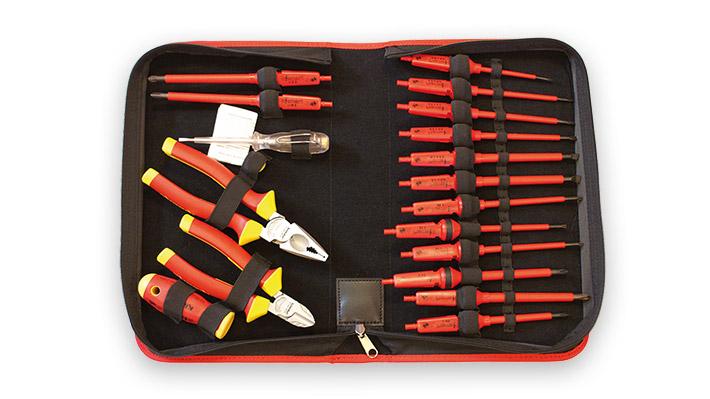 Sacoche textile avec 17 outils