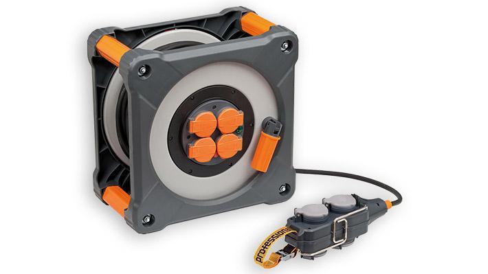 Enrouleur de câble professionalLINE 25m+5m avec Powerblock