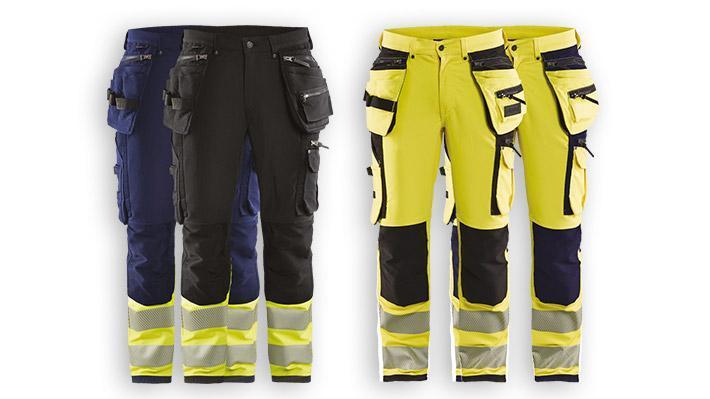 Pantalon artisan stretch 4-directions haute-visibilité